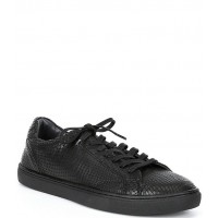 Steve Madden Men's Men's Cantorr Snake Print Leather Lace-Up Sneakers GFFFQOI